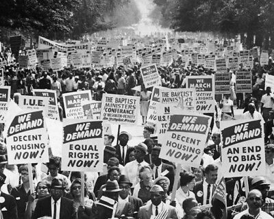 CIVIL RIGHTS MARCH Selma to Montgomery Glossy 8x10 Photo Black History Poster