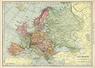 """Wall Decor Historical Map of Europe Vintage Art Poster 40x29"""""""