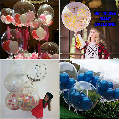 Self Inflating Clear And Transparent Giant Balloons Happy Birthday Party Balloon