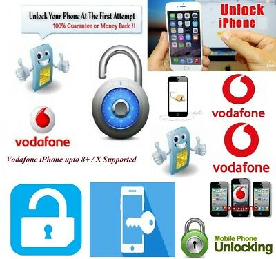 Unlocking Service for Vodafone UK Network iPhone 4/5/6/7/7+/8/8+/X (No Require)