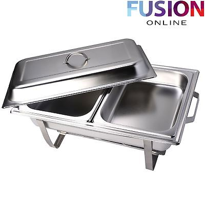 Chafing Dish Stainless Steel Food Warmer Container Catering Buffet Party 2 Pans