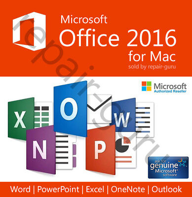 Microsoft Office 2016 Home & Business For Mac - Instant Delivery!