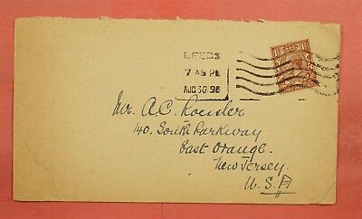 1919 ?gb Single Franked Leeds To Ac Roessler Usa