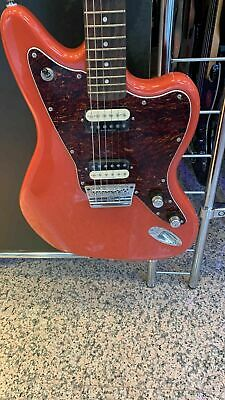 Squier By Fender Weinlese Modified Jaguar-Hh Fiesta Red Rosew E-Gitarre