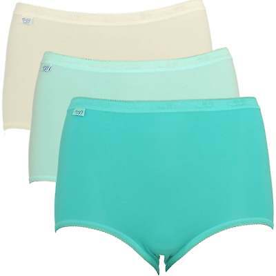 Panties Straightforward *4 Pack* Sloggi Basic Women Maxi Briefs 10189958 High Rise 95% Cotton Knickers