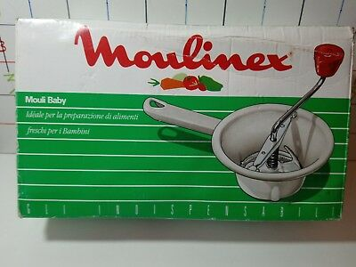 Moulinex 444  Mouli BABY  FOOD MILL Complete with box. Puree your own baby food.