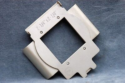 OMEGA 6x6 NEGATIVE CARRIER FOR B-22/B66/B600/C700 ENLARGERS - FREE USA DELIVERY