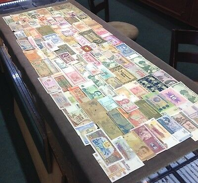 100 Piece Foreign Currency Mixed Lot Auction No Reserve