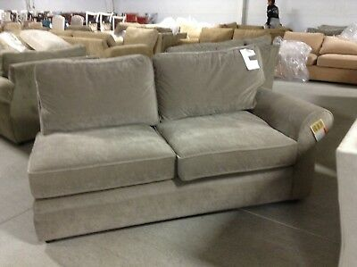 Surprising Pottery Barn Pearce Couch Sofa Sectional Pewter Velvet Right Machost Co Dining Chair Design Ideas Machostcouk