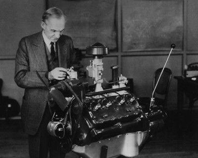 Inventor Ford Motors HENRY FORD Glossy 8x10 Photos Model V8 Engine Print Poster
