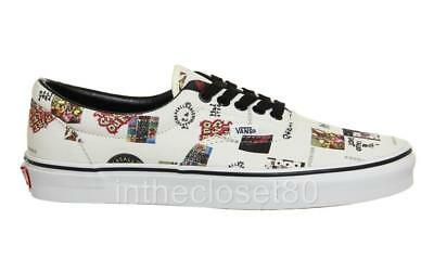 eb107312dcc00b Vans Era ATCQ A Tribe Called Quest White Canvas Trainers VN0A38FRQ6Y uk 8  us 9