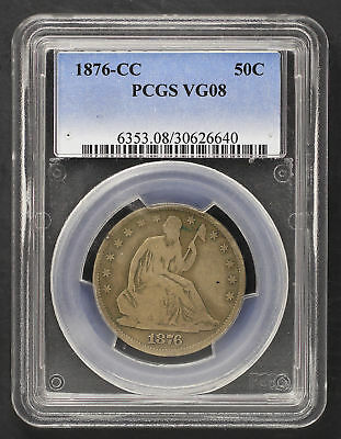 1876-CC Seated Liberty Silver Half Dollar PCGS VG-08 -136295