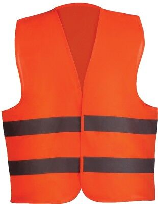 BULK LOT 100 Reflective Stripe Orange Safety Vest Universal Fit Unisex WHOLESALE
