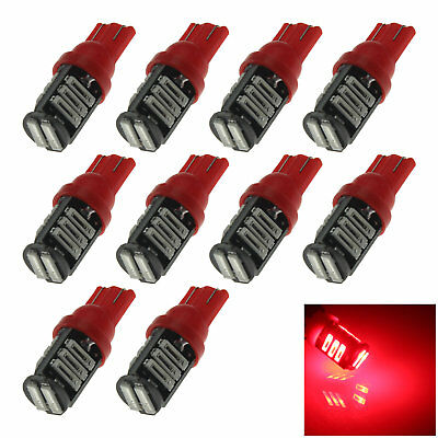 10x Red Car T10 W5W Generation Bulb Interior Light 11 7020 SMD LED Z20176