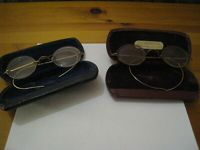 2 Pairs Of Vintage Spectacles In Original Cases Good Condition