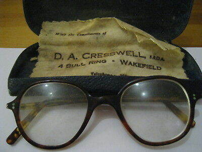 Pair Of Vintage Spectacles In Original Faux Tortoise Shell Frames Vgc