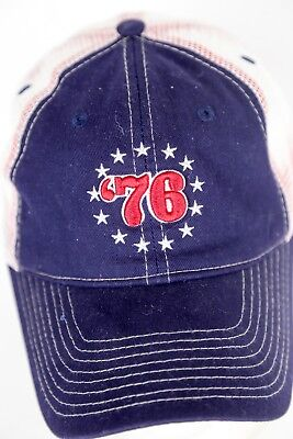 Vintage '76 Trucker Cap Hat Stars USA Flag