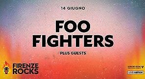 Due biglietti concerto Foo Fighters - Firenze 2018
