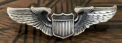 USAF Badge, Qual, Aviation Pilot, AF, Miniature ~ U.S.A.F.  Aviator ~ 1981