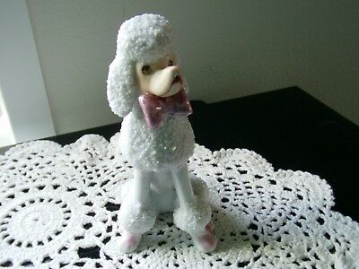 VINTAGE Porcelain POODLE Dog - Japan c 1940s/1950s