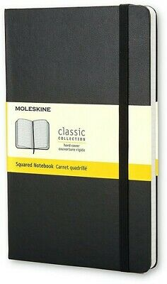 Moleskine Classic Notebook, Pocket, Squared, Black, Hard Cover (3.5 x 5.5) [New