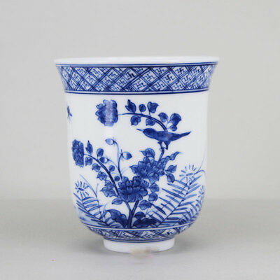 Chinese Jingdezhen Porcelain Blue and White Hand painted teacup Tea Cup 250cc