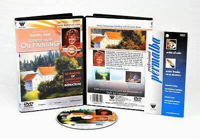 Dorothy Dent 3-Dvd Set,  3 Hour Oil Painting Instrutions, Floral & Still Life