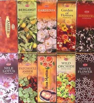 20- 200 Sticks Incense CHOOSE SCENT / MIXED HEM HEX Bulk Pack Lot Floral Insence