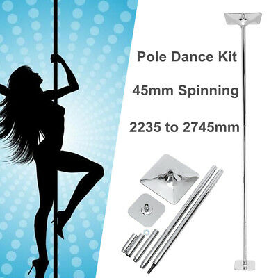 45mm Professional Spinning Pole Dancing Kit Home Gym Sporting Fitness Equipments