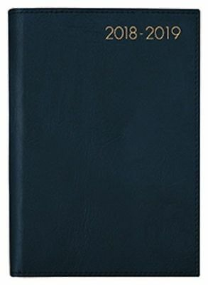 Diary 2018/19 Financial Year Milford Boston Wiro A4 Day to Page Black 441336
