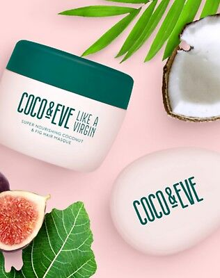 Coco & Eve Super Nourishing Coconut & Fig Hair Masque Tames Frizz & Treats Split