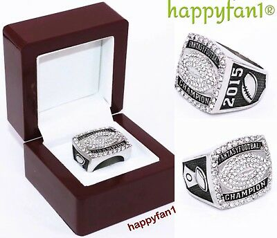 2015 Fantasy Football Championship Ring Trophy American Football size 8-14 new