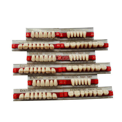 3 Set of 84*1 Dental Acrylic Resin Denture Teeth VITA Color A3 Upper Lower Shade
