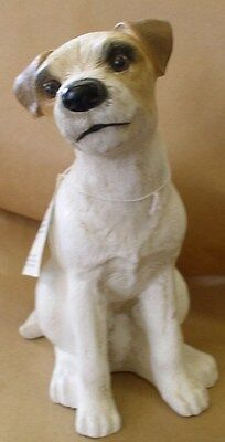 New Dog Jack Russell Terrier Sculpture Animal Garden Statue Figure Distressed