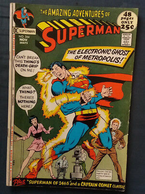 DC Superman 244 The Electronic ghost of Metropolis November 1971