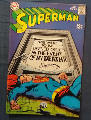 DC Superman 213 This vault to be opened only in the event of my death January 69