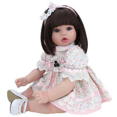 Reborn Baby Dolls Girl Gift Vinyl Silicone Real Life Newborn Handmade Toys 22''
