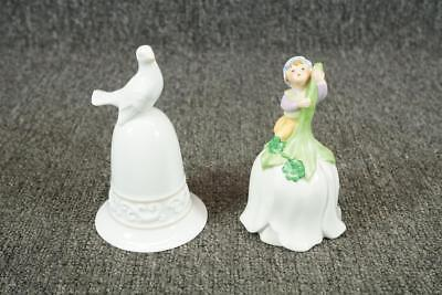 Set Of Two Avon Bells Good Luck Bell & Tapestry Collection Bell