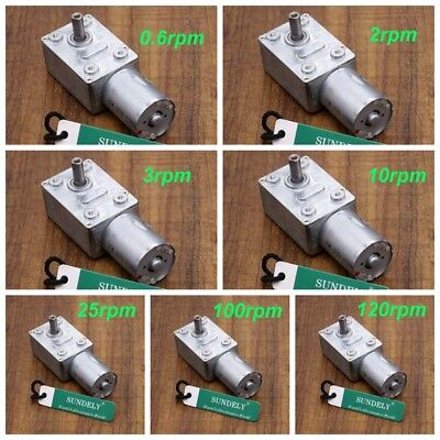Turbo Torque Worm Geared Motor Reduction Motor Reversible 0.6-120RPM DC12V Tools
