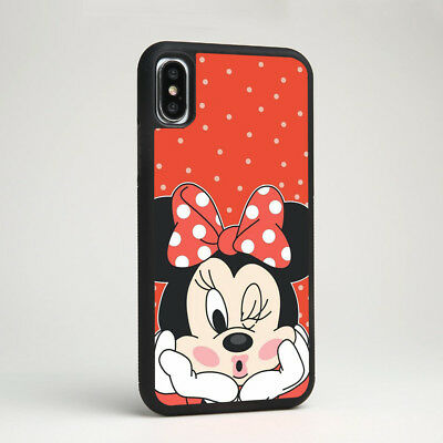 Minnie Mouse Disney Cartoon Silicone Phone Case Cover Skin for iPhone Samsung