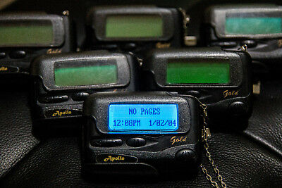 Apollo Gold Programmable Alpha Pager AL-A25 Used Retro Prop Beeper Vintage