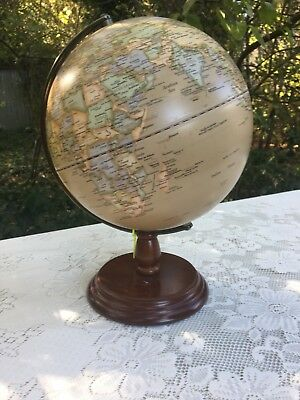 Globe World Vintage/antique Look Map New