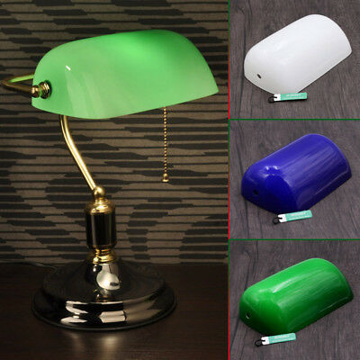 Lampshade for Bankers Desk Lamp Replacement Glass Shade Cover Fixture Cap 9x5''