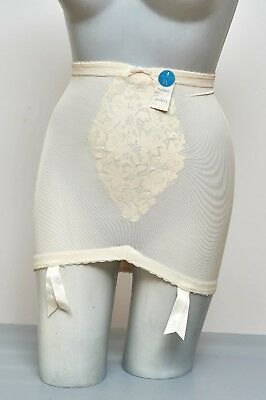 Authentic Vintage 60s 4 Garter Warner's RIDDLE Girdle NOS Ultra Femme + Nylons