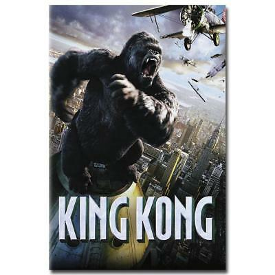 King Kong 1933 Classic Movie Art Silk Fabric Poster Print 12x18 24x36 inch 002