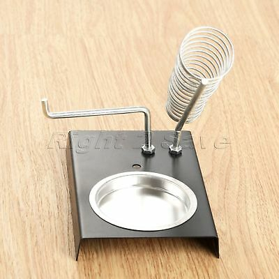 "Soldering Iron Stand 5.04""*3.43"" Metal Bottom Iron Two Grids Electric Iron Rack"