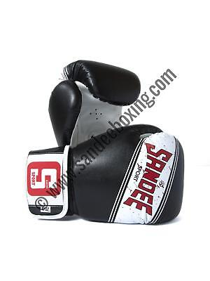 Sandee Sport Velcro Black & White Synthetic Leather Boxing Glove