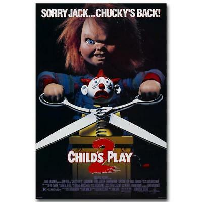 "CHILDS PLAY 2 Classic Horror Movie Poster 13x20 ""20x30"" 24x36"" Art Print"