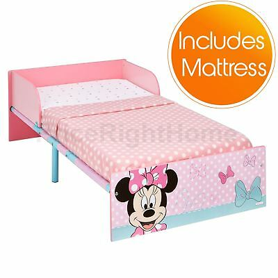 Disney Minnie Mouse Toddler Bed With Foam Mattress - Pink New Official Free P+P