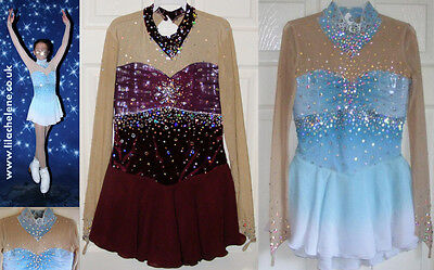 Ice Figure Skating Skate Dress/Baton Twirling Dance Competition Costume Outfit